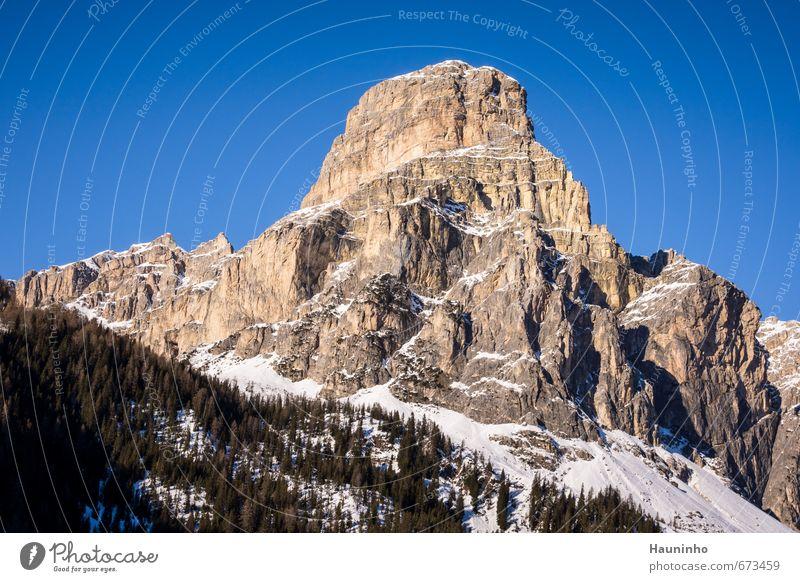 Dolomiten Himmel Natur Ferien & Urlaub & Reisen blau grün Baum Landschaft Winter Wald Berge u. Gebirge Schnee Sport Freiheit Stein Felsen Luft