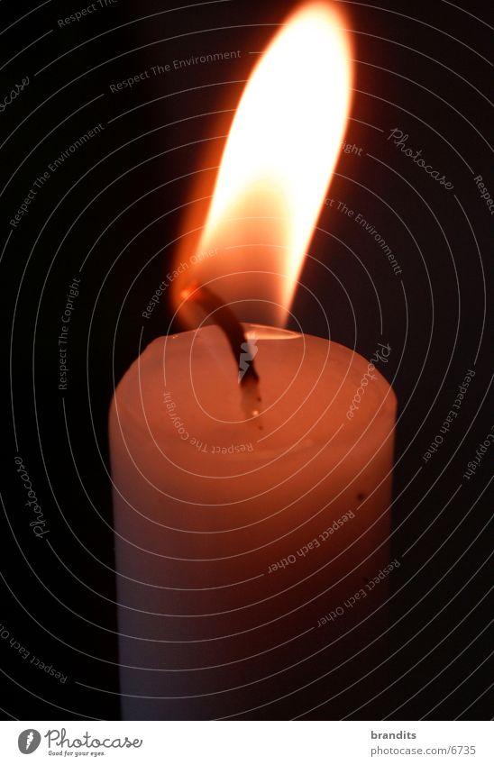Unstille Flamme Brand Kerze Romantik Wachs Fototechnik