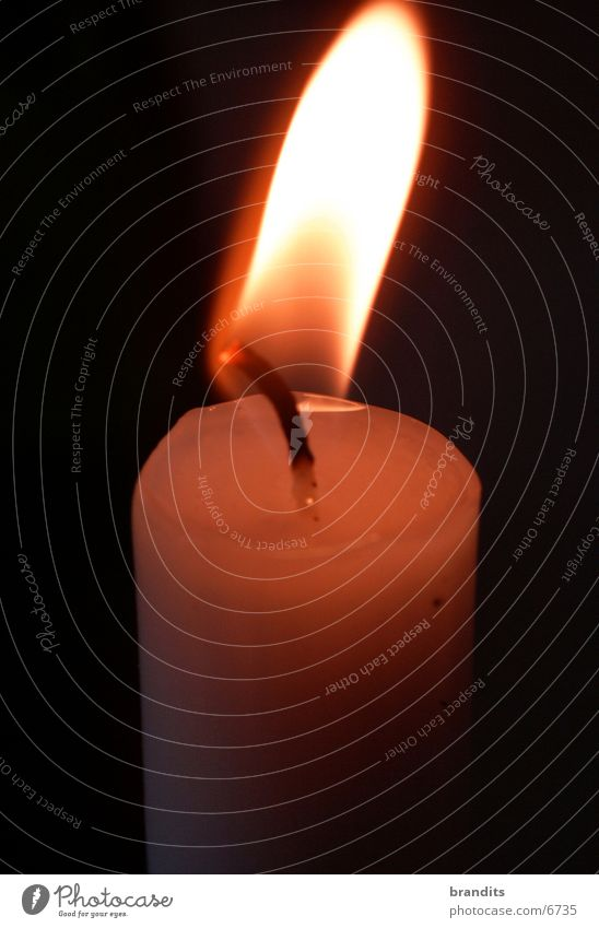 Unstille Flamme Kerze Wachs Romantik Fototechnik Brand