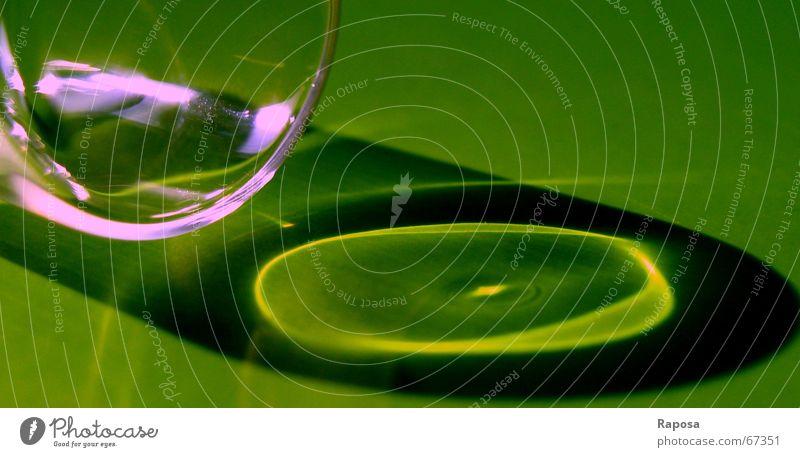 Lichtspiegelung Reflexion & Spiegelung grün rosa Glas rund violett Klarheit Oval Lichtstrahl Reagenzglas dunkelgrün hellgrün