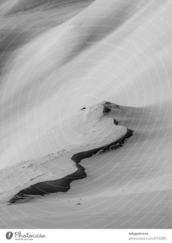 Winterstufe Umwelt Natur Landschaft Urelemente Erde Klima Wetter Schönes Wetter Eis Frost Schnee Schneefall Feld Hügel Alpen Berge u. Gebirge Gipfel