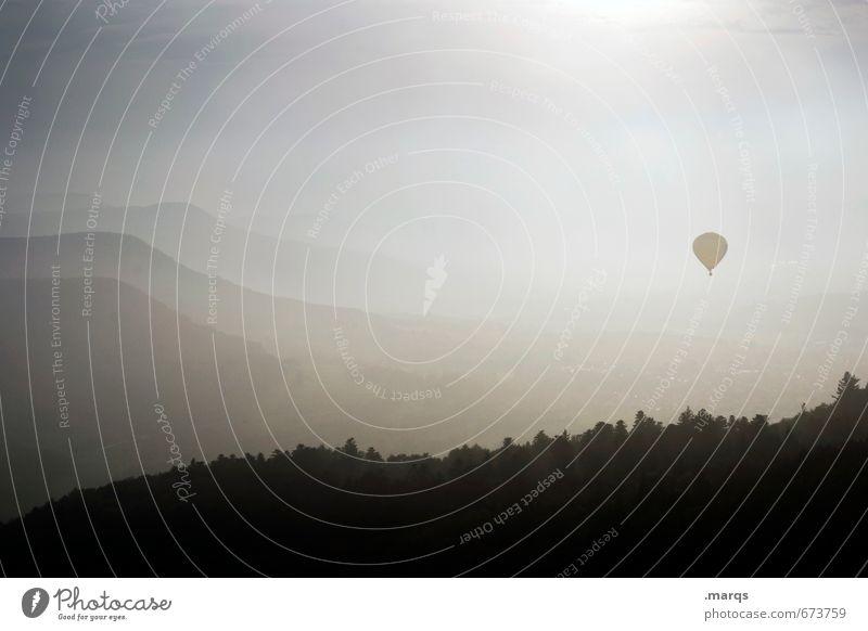 Himmelfahrt Natur schön Sonne Einsamkeit Erholung Landschaft Freude Ferne Wald Glück Freiheit Stimmung Horizont Lifestyle Zufriedenheit