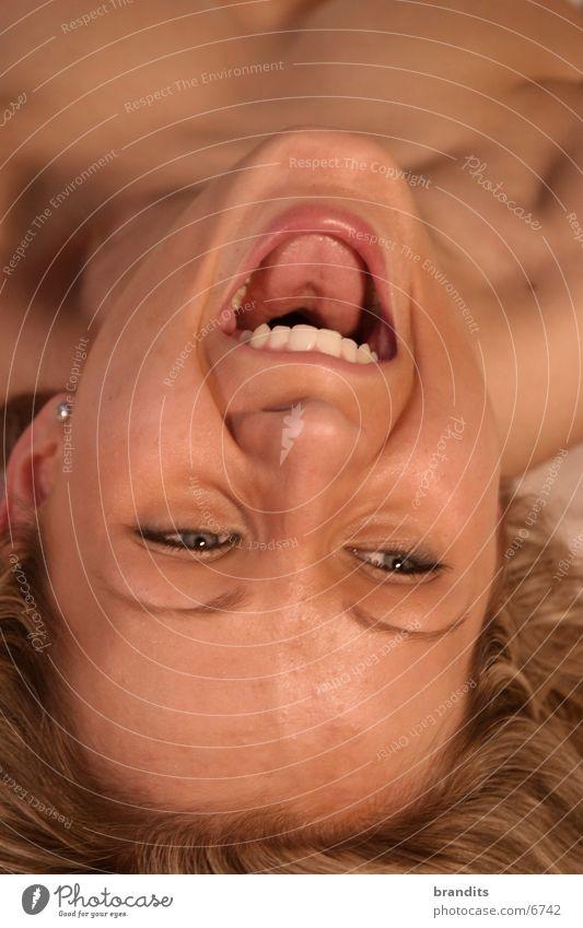 Happy Model Frau Gesicht lachen Zähne Porträt