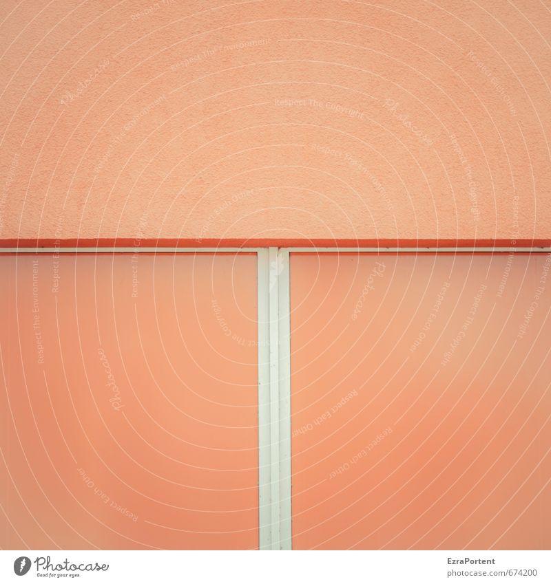T Kunst Haus Bauwerk Gebäude Mauer Wand Fassade Linie Streifen orange weiß Design Strukturen & Formen Hintergrundbild Stil Grafik u. Illustration graphisch