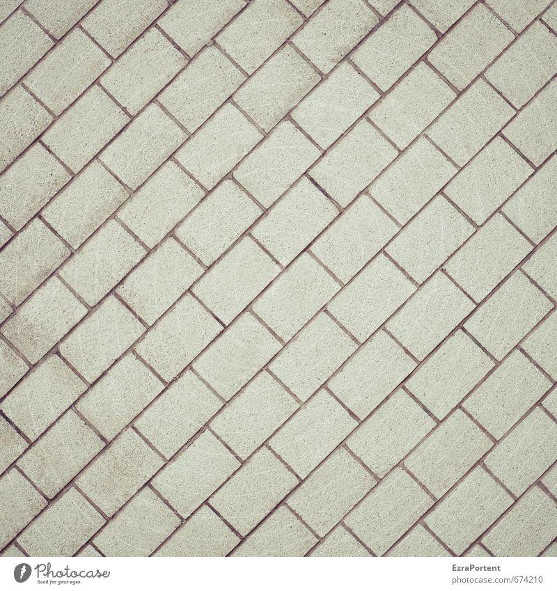diagonal Kunst Haus Gebäude Architektur Mauer Wand Fassade Wege & Pfade Stein Linie ästhetisch dreckig grau Zufriedenheit Design gleich gerade