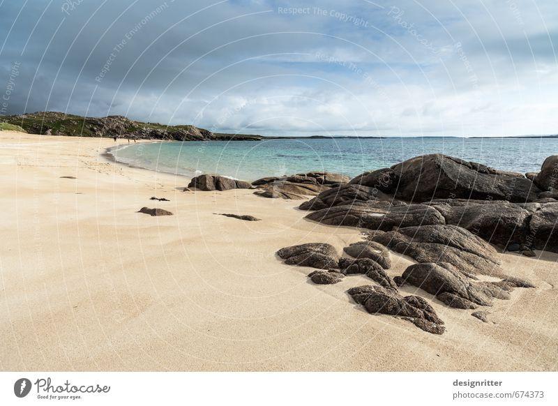 Losgehen Ferien & Urlaub & Reisen Tourismus Ferne Freiheit Sommer Sommerurlaub Sonne Strand Meer wandern Sand Himmel Wolken Gewitterwolken Schönes Wetter Wind