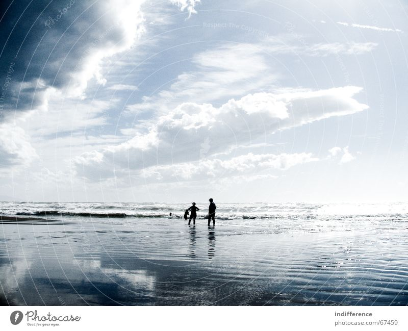 walking on the water Strand Himmel Sommer Mensch clouds sky sea Sand wave tuscany