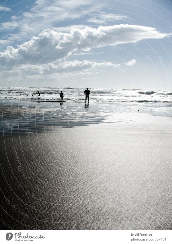 waiting for the sun Mensch Sommer Strand Sand