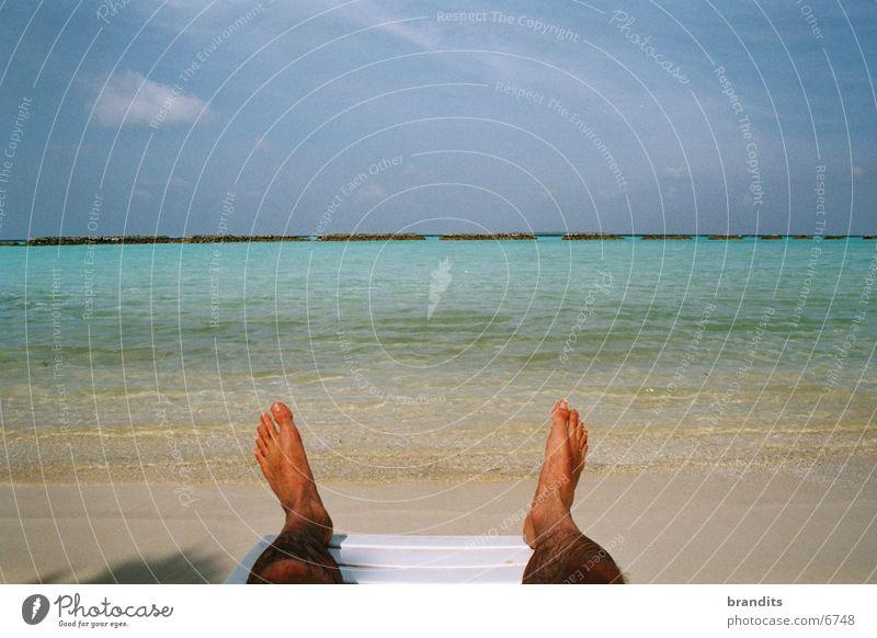 Südseefüße Wasser Sonne Meer Ferien & Urlaub & Reisen Fuß Karibisches Meer traumhaft