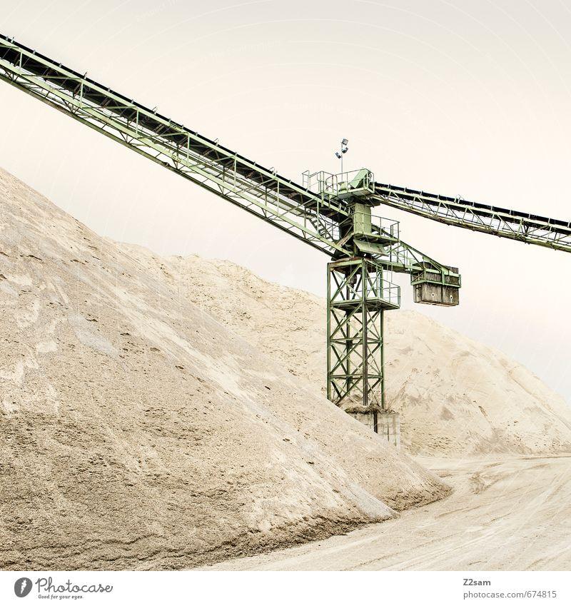 Industrieromantik Maschine Baumaschine Technik & Technologie Energiewirtschaft Wasserkraftwerk Urelemente Erde Sand Industrieanlage Fabrik Architektur Kran