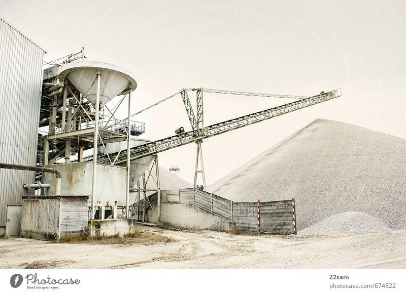Industrieromantik 3 Stadt Berge u. Gebirge Umwelt Architektur Sand Erde Energiewirtschaft Ordnung Technik & Technologie weich Baustelle Hügel