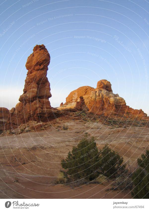 NoArch rot Stein orange USA Weste standhaft Größe Indianer Ocker Utah Monolith Gesteinsformationen Wilder Westen Arches National Park