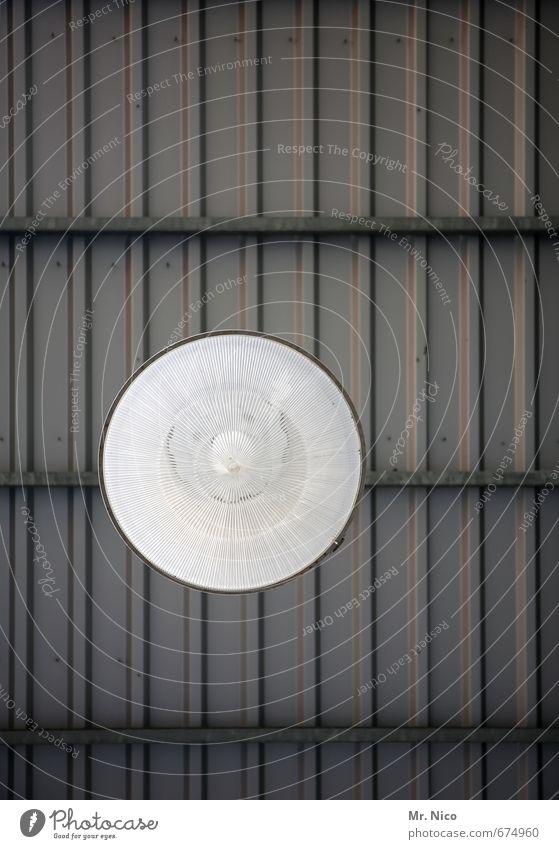 Neulich im Baumarkt Gebäude oben Lampe hell Elektrizität Technik & Technologie Dach rund Glühbirne Lagerhalle Decke Deckenbeleuchtung Deckenlampe