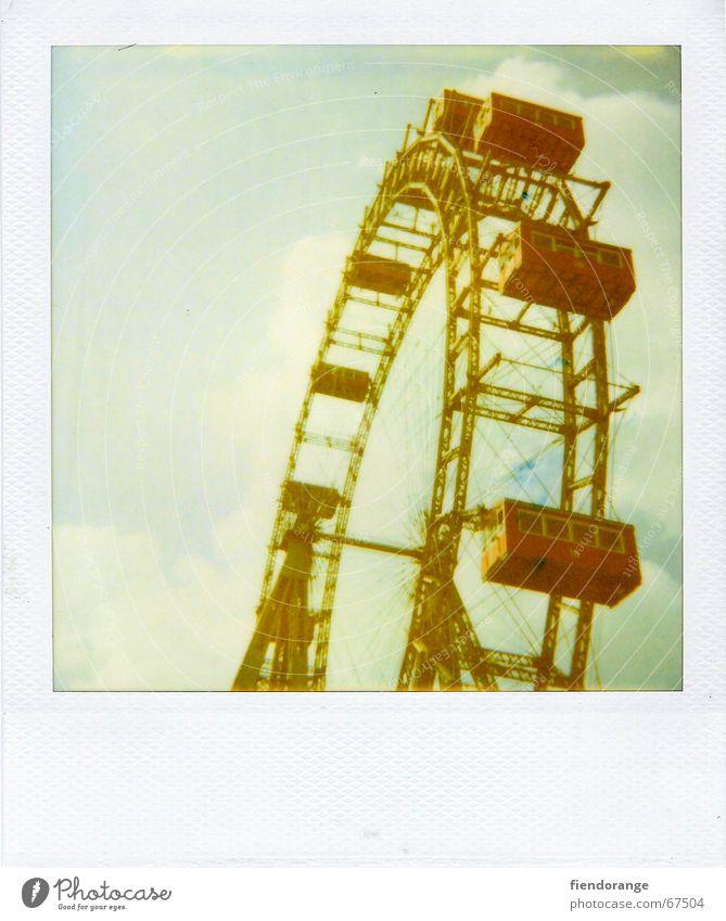 pleasure grounds Riesenrad Wolken Freizeit & Hobby Vergnügungspark Sommer Ferien & Urlaub & Reisen Wochenende Unbekümmertheit Freude Kindheit
