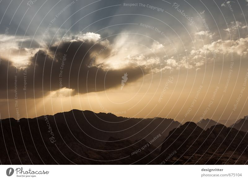 Auge über dem Sinai Ferien & Urlaub & Reisen Himmel Wolken Sonnenaufgang Sonnenuntergang Wetter Berge u. Gebirge Sinai-Berg Horeb Moseberg Gipfel