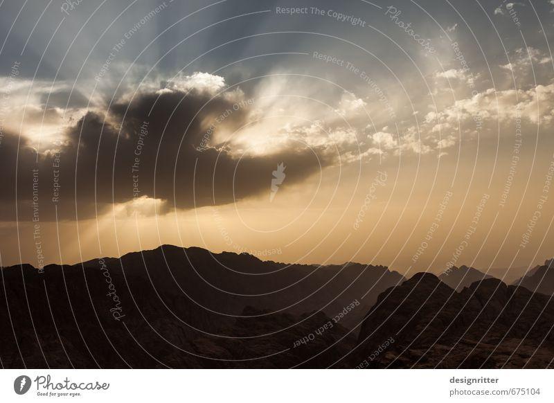 Auge über dem Sinai Himmel Ferien & Urlaub & Reisen Wolken Berge u. Gebirge Senior Religion & Glaube Wetter Kultur Ewigkeit Gipfel Hoffnung geheimnisvoll Afrika