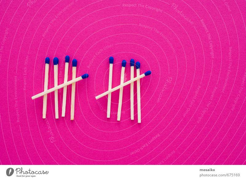 Übereinstimmungen Design Holz Zeichen Rauch blau rosa gefährlich bedrohlich Idee Kreativität Krieg Krise Ordnung Risiko Sicherheit warten Inspiration Feuer
