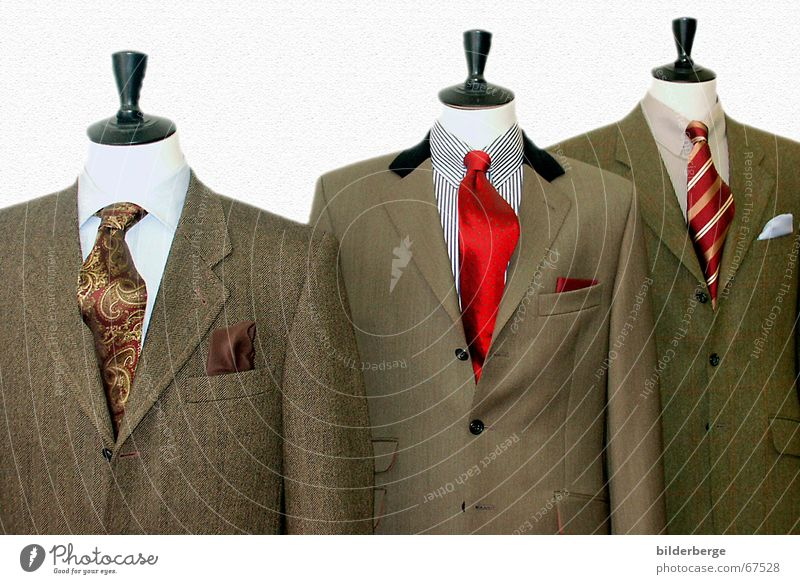 Kopflos grün rot schwarz Arbeit & Erwerbstätigkeit Business braun Konzert Anzug Reichtum Hemd Krawatte Knöpfe messen kopflos Kragen Schneider
