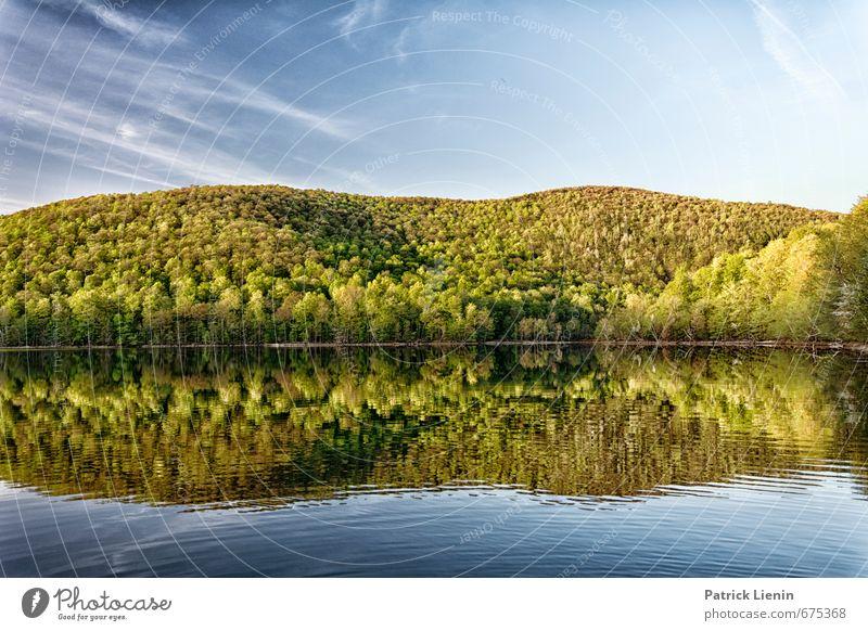 Jahreszeiten Himmel Natur Wasser Pflanze Sommer Baum Erholung Landschaft ruhig Wolken Wald gelb Umwelt Frühling Gesundheit Luft