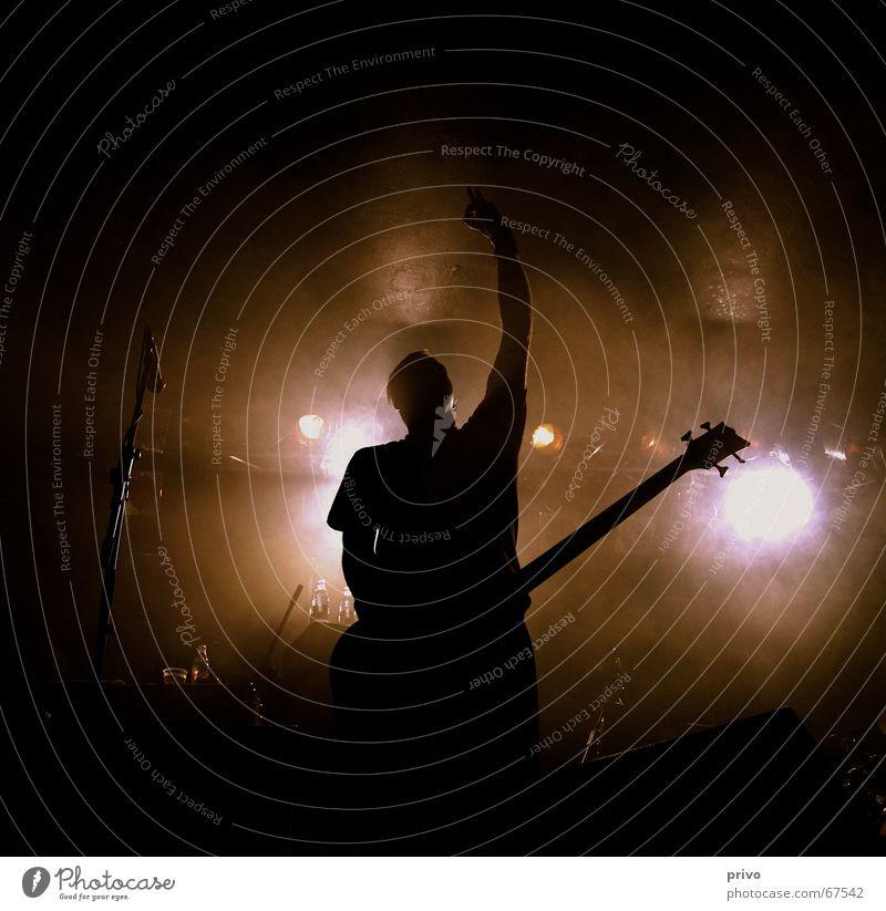 Konzert Mann Konzert Schnur Gitarre Bühne Fett