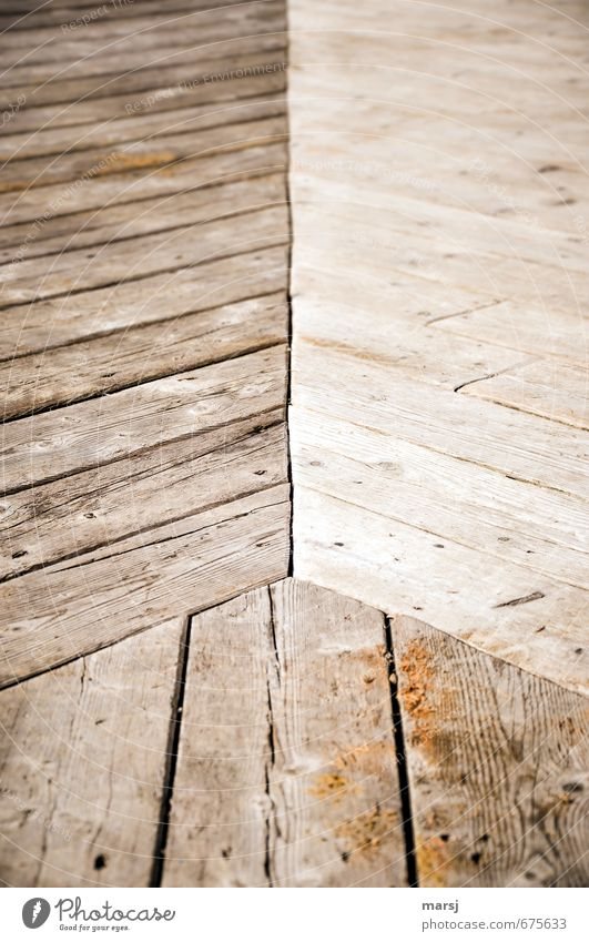 Drei alt Stil Holz natürlich Linie braun Zusammensein dreckig Ordnung einfach Kreativität Streifen Unendlichkeit planen trocken Kontakt