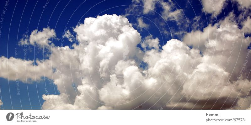 Wolkenbilder weiß Himmel blau Wetter Regen cloud clouds weather rain blue white
