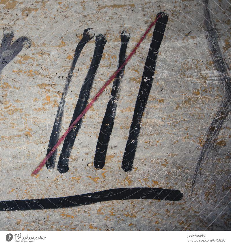 5 Wand Graffiti Mauer Glück Linie Ordnung Erfolg warten Kreativität einfach planen Ziffern & Zahlen geheimnisvoll Konzentration nah gemalt