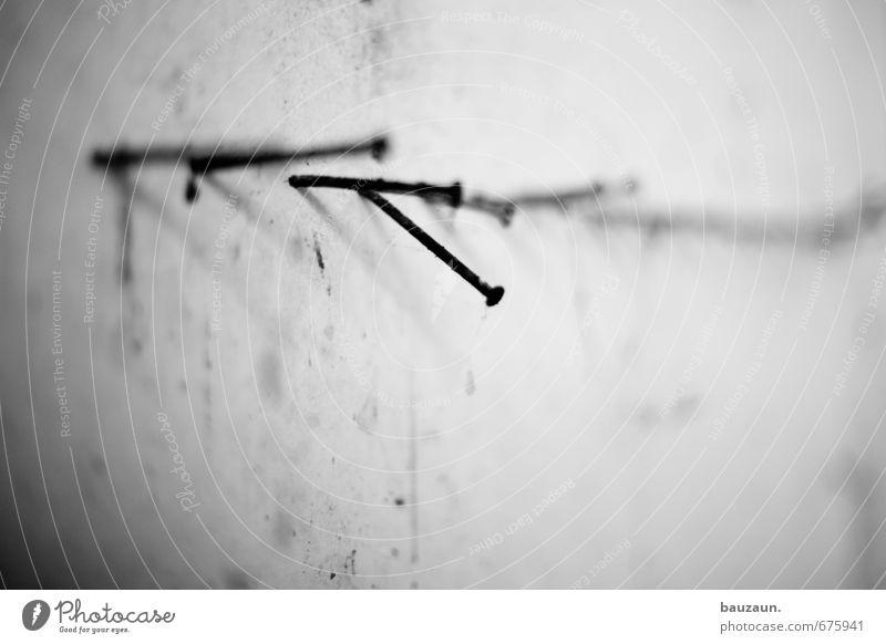 ut ruhrgebiet   den nagel auf den kopf getroffen. alt Einsamkeit Wand Bewegung Mauer Linie Metall Arbeit & Erwerbstätigkeit Fassade Kraft Dekoration & Verzierung Vergänglichkeit Wandel & Veränderung Baustelle Fabrik Ende