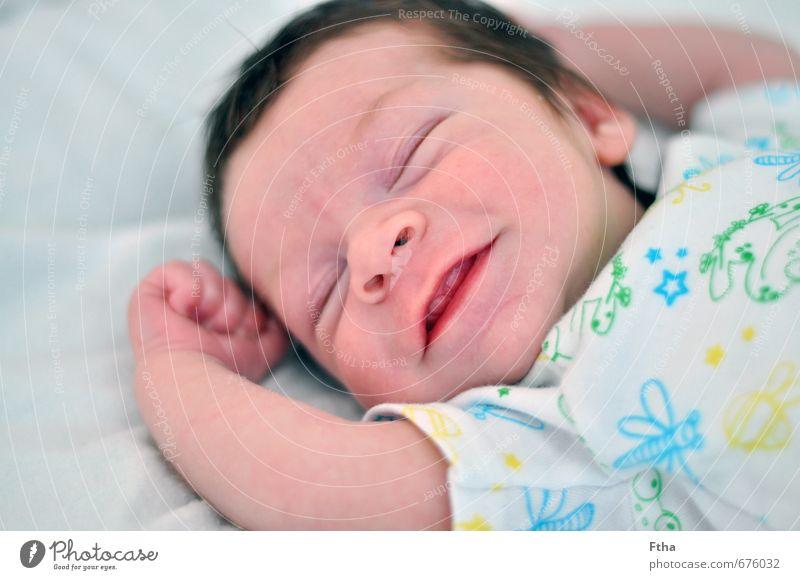 Glücklich Mensch maskulin Baby Zähne 1 0-12 Monate Lächeln lachen leuchten neugeboren Farbfoto Innenaufnahme Zentralperspektive Vorderansicht
