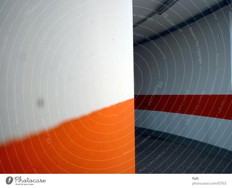 Durchgang weiß Wege & Pfade orange Architektur Beton Teer