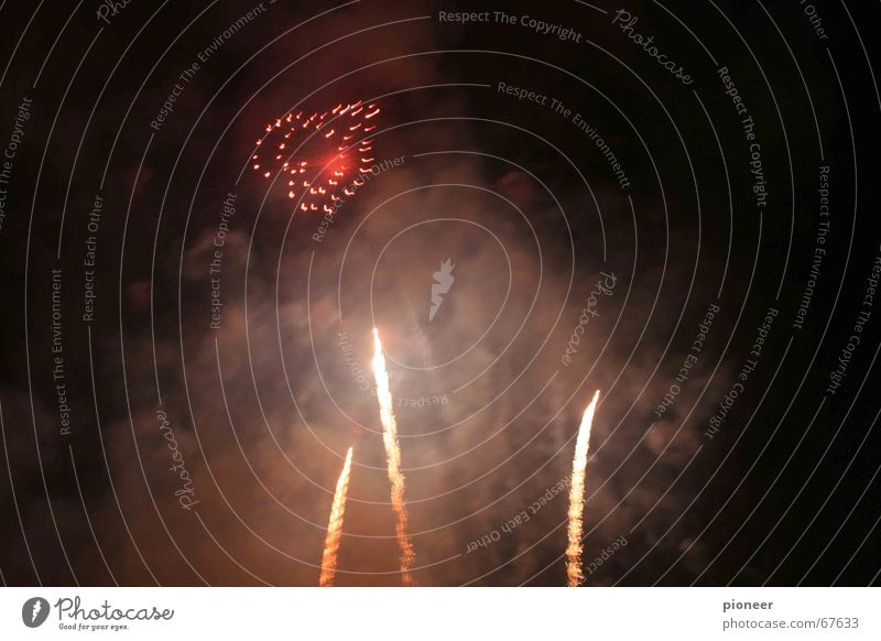 nachtromantik Himmel Liebe Herz Romantik Feuerwerk