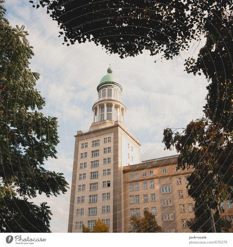 Frankfurt Tor 1/2 Himmel Stadt schön Sommer Baum Wolken Fassade Luft elegant Schönes Wetter retro Turm historisch Vergangenheit Denkmal Tradition