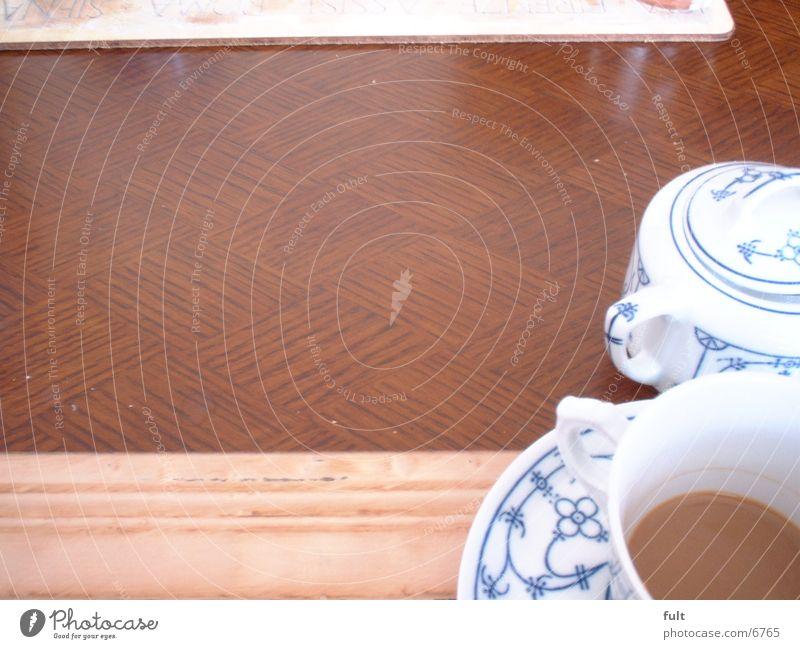 Kaffee Kaffeetasse Tasse Tisch Holz Zuckerbecher