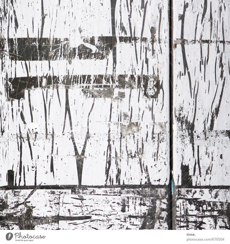 Werbepause Traurigkeit Kunst Linie Metall Ordnung verrückt Lebensfreude Vergänglichkeit Streifen Wandel & Veränderung Verfall chaotisch Stress Stahl Müdigkeit