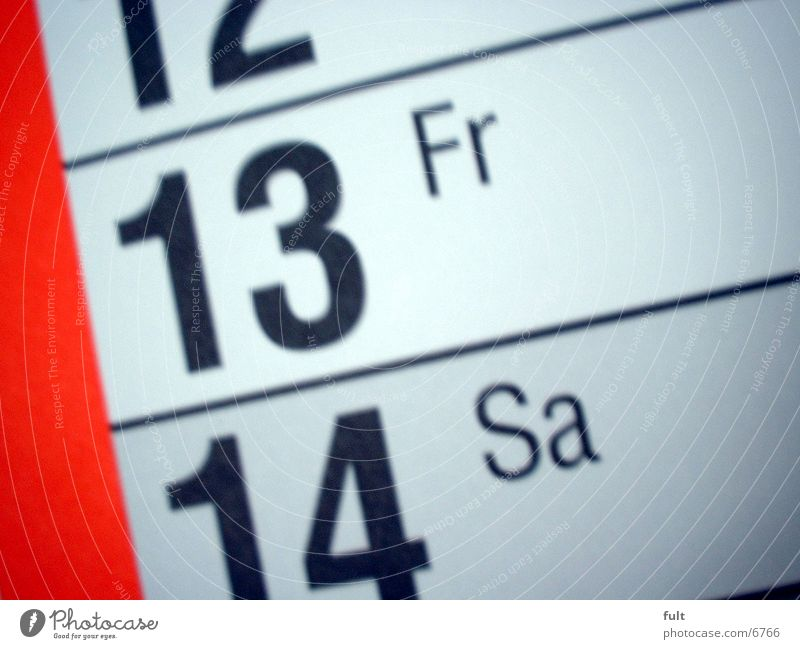 Freitag der 13te Kalender Fototechnik