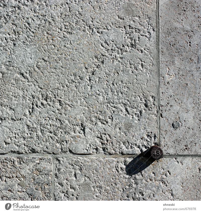 48 Bauwerk Gebäude Mauer Wand Fassade Stein Ziffern & Zahlen grau Fuge Farbfoto Gedeckte Farben Außenaufnahme abstrakt Muster Strukturen & Formen