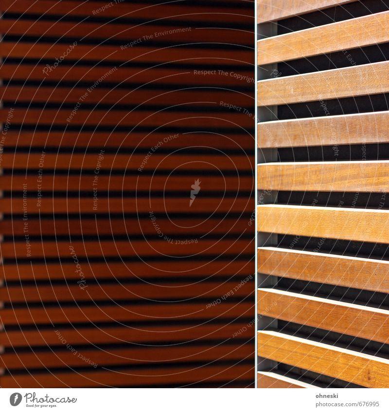 Holz vor der Hütte Gebäude Architektur Mauer Wand Fassade Holzbrett Holzleiste Linie Häusliches Leben Farbfoto Gedeckte Farben Außenaufnahme abstrakt Muster
