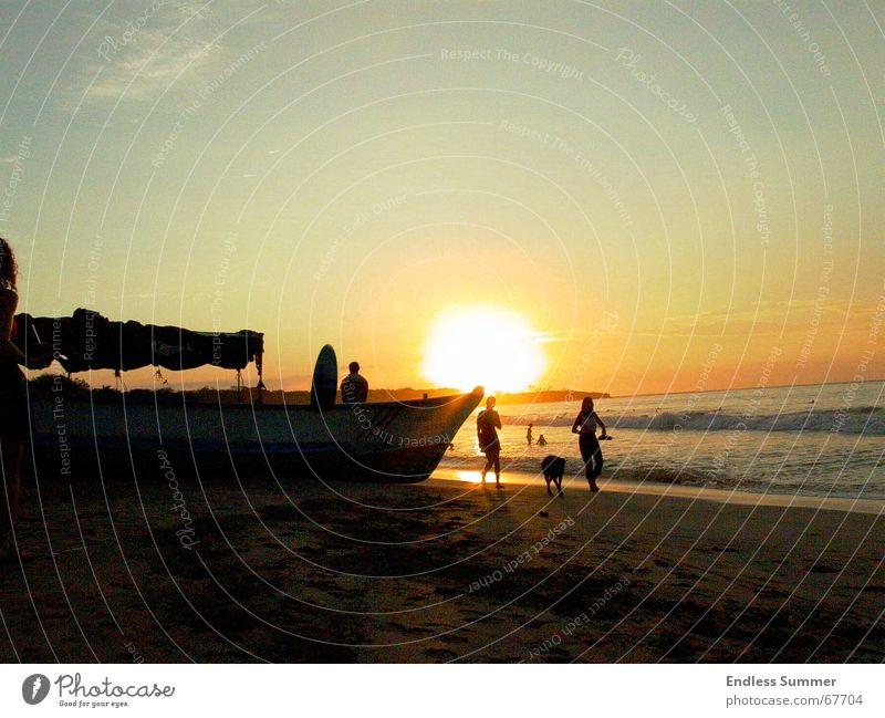 Sundowner Strand Sonnenuntergang Erholung Mittelamerika Ferien & Urlaub & Reisen
