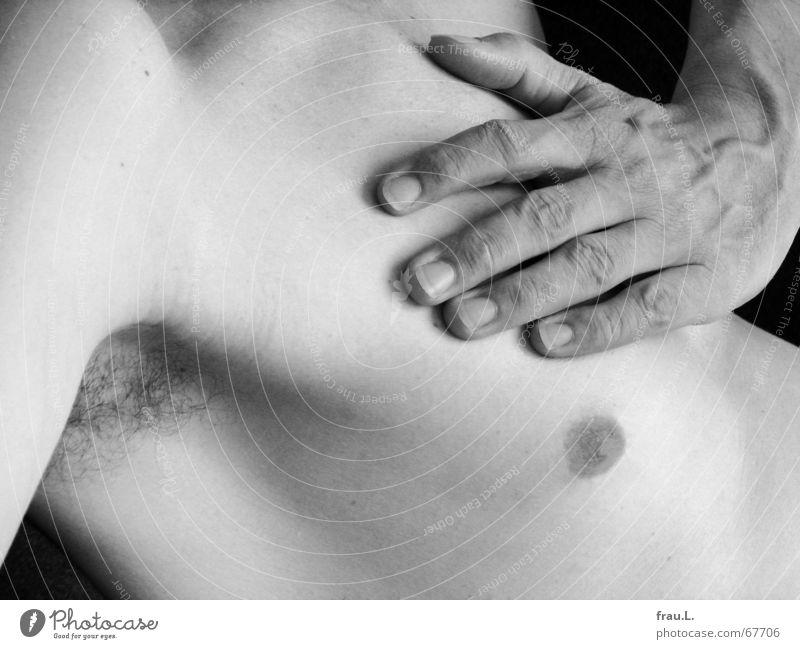 verdreht Mensch Mann Hand schön Erholung nackt Körper liegen maskulin außergewöhnlich dünn Brust drehen Müdigkeit Schulter Sportler