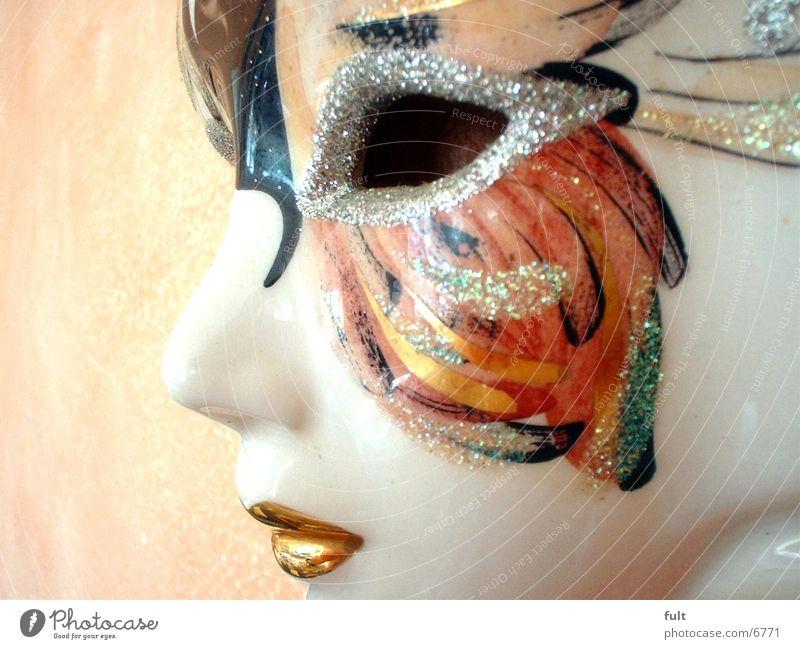 Maske Gesicht Karneval streichen Dinge Geschirr