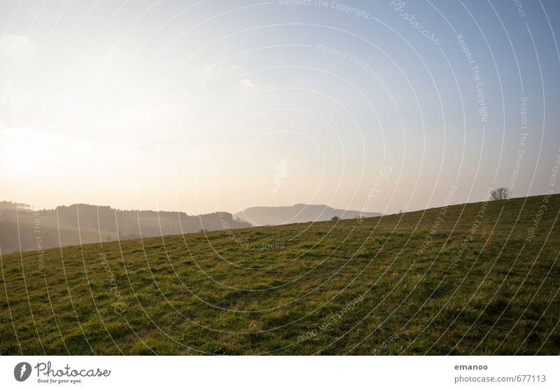 Horben Ferien & Urlaub & Reisen Tourismus Freiheit Berge u. Gebirge wandern Natur Landschaft Pflanze Himmel Horizont Klima Wetter Schönes Wetter Gras Garten