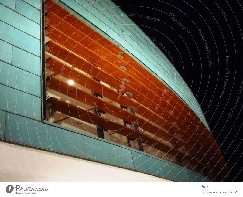 Fassade Holz Nacht Architektur Glas