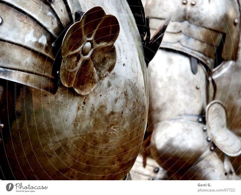 iss ja hammerhammerhart Blume Metall Schutz Vergangenheit Sportveranstaltung Ritter Ausgrenzung Mittelalter Bronze Schlacht Adel Schutzbekleidung Rüstung