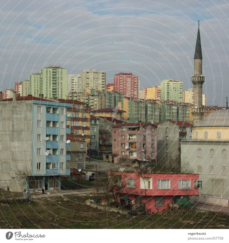 Real Istanbul Stadt Hochhaus Haus Skyline Türkei Istanbul Elendsviertel Vorstadt