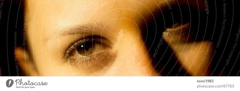 Sonnenschein schön Auge träumen geheimnisvoll Vertrauen Mensch