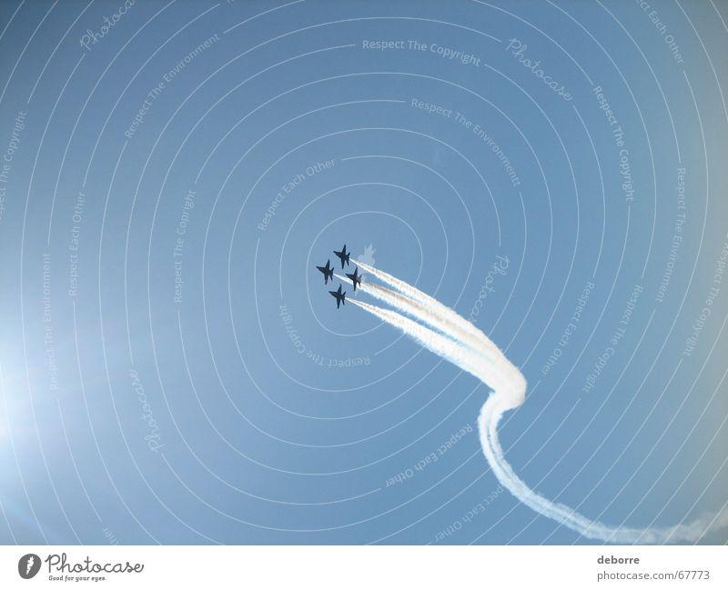 blue angels 2 Himmel blau Luft Flugzeug Geschwindigkeit Pilot Düsenflugzeug Stunt
