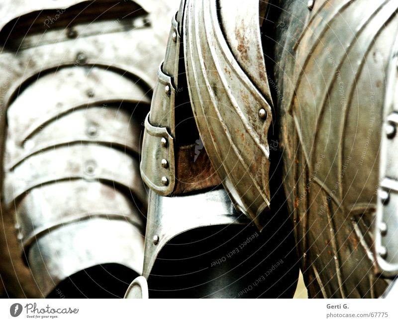 rüsti*g Blume Metall Rücken Schutz Vergangenheit Sportveranstaltung Schulter Mangel Ritter Ausgrenzung Krieg Mittelalter Bronze Schlacht Adel