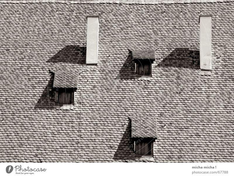 Gucklöcher Fenster Dach Backstein Kloster Maulbronn Dreieck Rechteck Schornstein Schatten