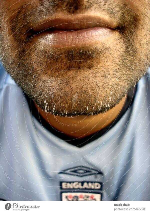 HOMER SIMPSON EFFEKT Mensch Mann Gesicht Mund maskulin Lippen Bart Typ England Vorderseite Europa Kinn Bartstoppel Stoppel Dreitagebart