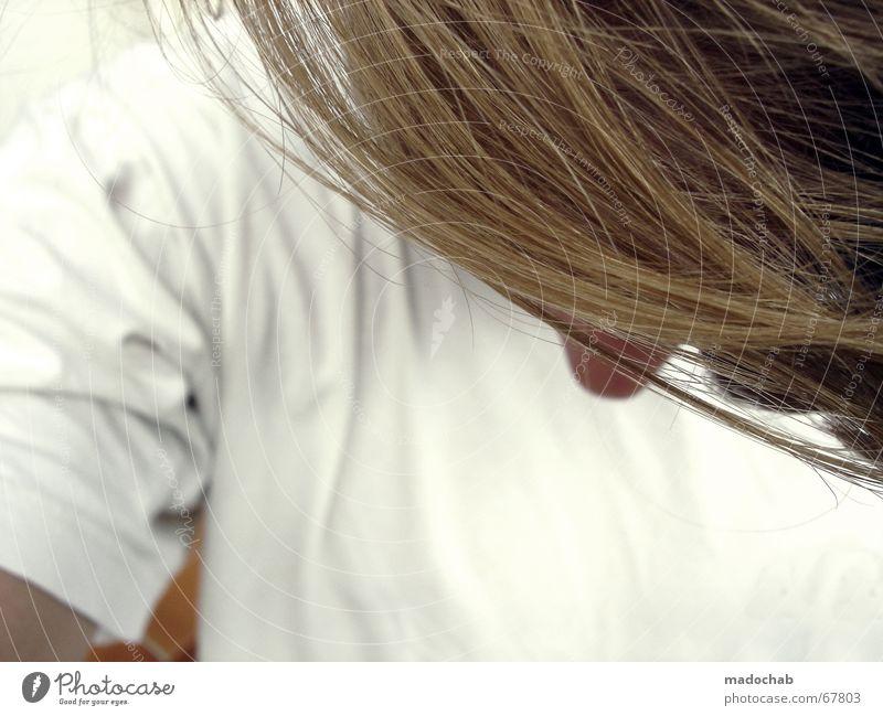 NEIGT EUER HAUPT VOR IHM blond Perücke einfach demütig Mensch Mann Haare & Frisuren kunsthaar kunstpelz pelzige zunge Nase lange nase gehorsam der anderen sorte